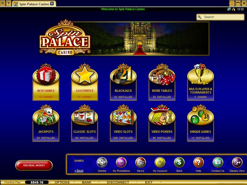 The new palace casino internet casino games uk